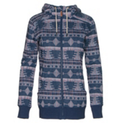 Roxy Frost Printed Womens Hoodie, Akiya Print, medium