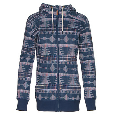 Roxy Frost Printed Womens Hoodie, Akiya Print, viewer