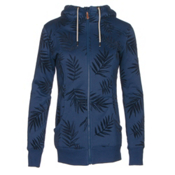 Roxy Frost Printed Womens Hoodie, Botanik Flockage, medium