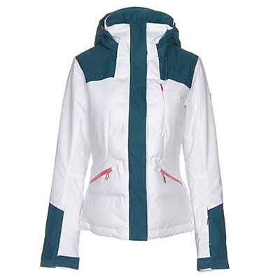 Roxy Flicker Womens Insulated Snowboard Jacket, Bright White, viewer