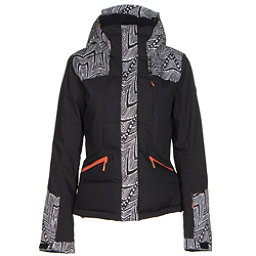 Roxy Flicker Womens Insulated Snowboard Jacket, Mauritius Daze, 256