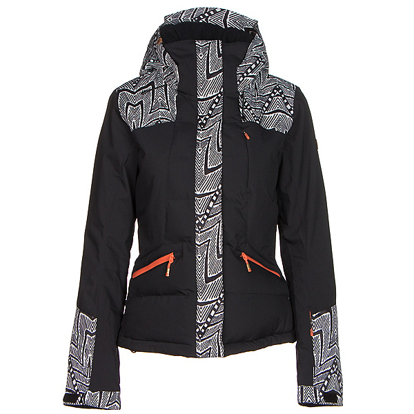 Roxy Flicker Womens Insulated Snowboard Jacket, Mauritius Daze, 600