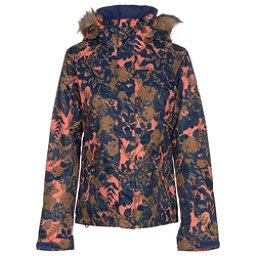 Roxy Jet Ski w/Faux Fur Womens Insulated Snowboard Jacket, Amazone Flowers, 256