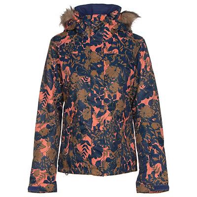 Roxy Jet Ski w/Faux Fur Womens Insulated Snowboard Jacket, Amazone Flowers, viewer