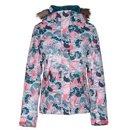 Roxy Jet Ski w/Faux Fur Womens Insulated Snowboard Jacket, Manta, 256