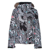 Roxy Jet Ski w/Faux Fur Womens Insulated Snowboard Jacket, Ha Hui, medium