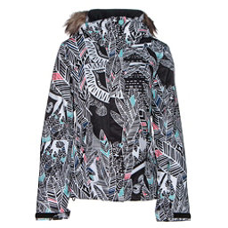 Roxy Jet Ski w/Faux Fur Womens Insulated Snowboard Jacket, Ha Hui, 256