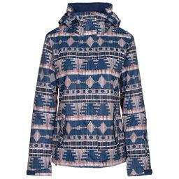Roxy Jetty Womens Insulated Snowboard Jacket, Akiya Print, 256