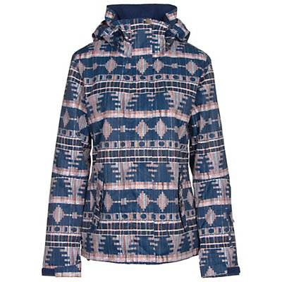 Roxy Jetty Womens Insulated Snowboard Jacket, Akiya Print, viewer