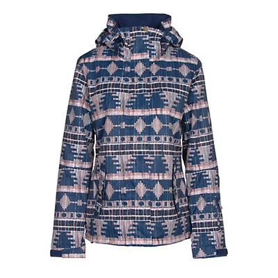 Roxy Jetty Womens Insulated Snowboard Jacket, Akiya Print, viewer