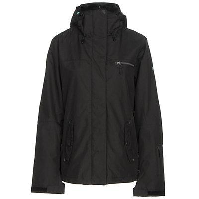Roxy Jetty 3N1 Womens Insulated Snowboard Jacket, True Black, viewer