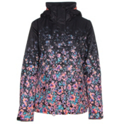 Roxy Jetty Gradient Womens Insulated Snowboard Jacket, Gradient Flowers, medium