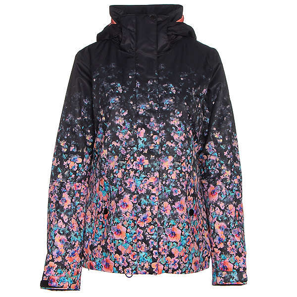 Roxy Jetty Gradient Womens Insulated Snowboard Jacket, Gradient Flowers, 600
