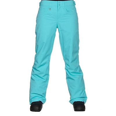 Roxy Backyard Womens Snowboard Pants, Blue Radiance, viewer
