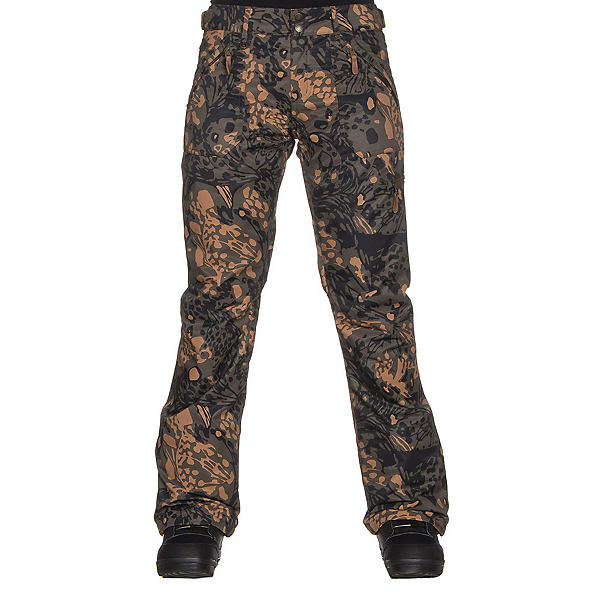 Roxy Nadia Printed Womens Snowboard Pants, Butterflycamo, 600