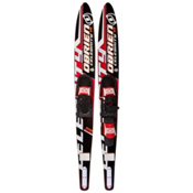 O'Brien Celebrity Combo Water Skis With 700 Adjustable Bindings, Red, medium
