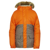 686 Polly Insulated Girls Snowboard Jacket, Coral Colorblock, medium
