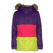 686 Polly Insulated Girls Snowboard Jacket, Violet Colorblock, medium