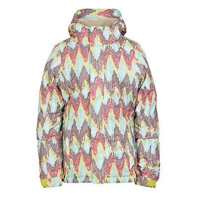 686 Flora Insulated Girls Snowboard Jacket, Grey Ribbons, viewer