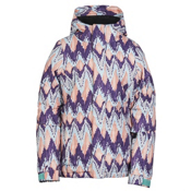 686 Flora Insulated Girls Snowboard Jacket, Violet Ikat, medium
