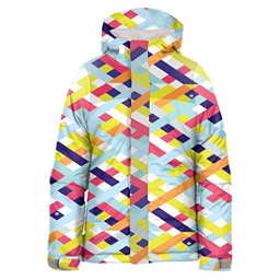 686 Flora Insulated Girls Snowboard Jacket, Grey Ribbons, 256
