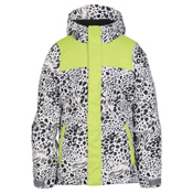 686 Ella Insulated Girls Snowboard Jacket, Grey Animal Colorblock, medium