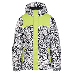 686 Ella Insulated Girls Snowboard Jacket, Grey Animal Colorblock, 256