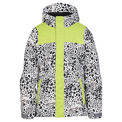 686 Ella Insulated Girls Snowboard Jacket, Grey Animal Colorblock, viewer