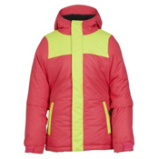 686 Ella Insulated Girls Snowboard Jacket, Fuschia Colorblock, medium