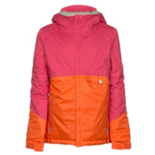 686 Wendy Insulated Girls Snowboard Jacket, Coral Colorblock, medium