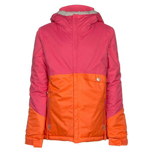 686 Wendy Insulated Girls Snowboard Jacket, Coral Colorblock, 600