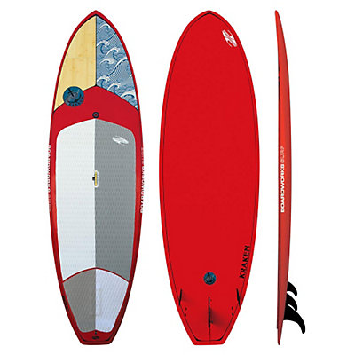 Boardworks Surf Kraken 9'9 Stand Up Paddleboard, Wood-Red, viewer