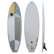 Boardworks Surf Kraken 9ft 9in Stand Up Paddleboard, Wood-Light Grey, medium