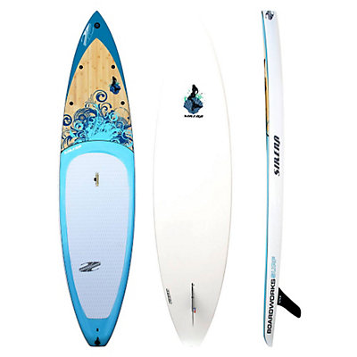 Boardworks Surf Sirena 10ft 6in Touring Stand Up Paddleboard 2016, Wood-Blue, viewer