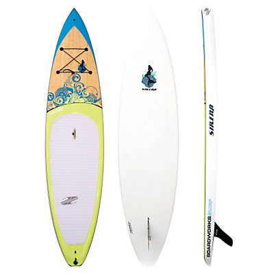 Boardworks Surf Sirena 10'6 Touring Stand Up Paddleboard, Wood-Blue, viewer