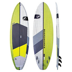 Boardworks Surf Special 7'4 Surf Stand Up Paddleboard, Green-White, 256