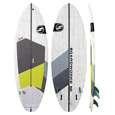 Boardworks Surf Special 7'4 Surf Stand Up Paddleboard, Green-White, viewer