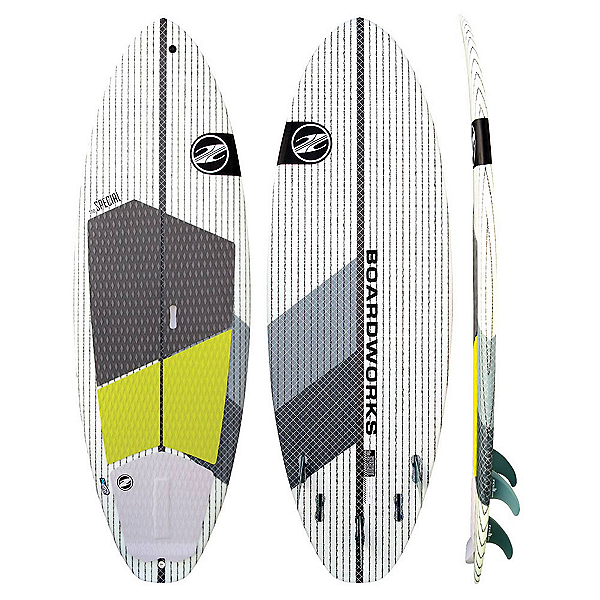 Boardworks Surf Special 7'4 Surf Stand Up Paddleboard, Grey-White, 600