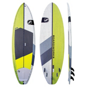 Boardworks Surf Special 8ft 4in Surf Stand Up Paddleboard, Lime-White, medium