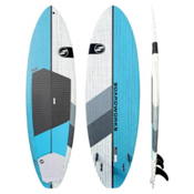 Boardworks Surf Special 9ft 4in Surf Stand Up Paddleboard, Teal-White, medium