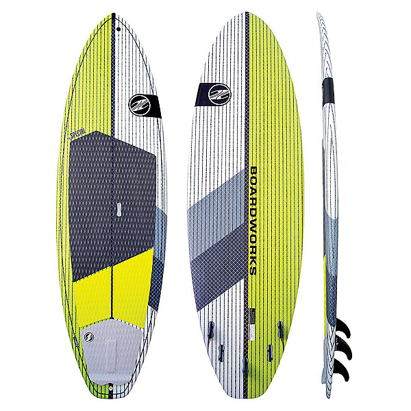 Boardworks Surf Special 9'10 Surf Stand Up Paddleboard, Lime-White, 600