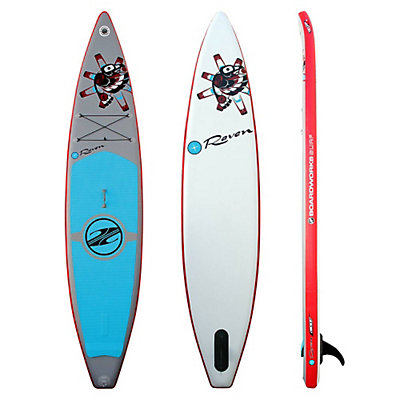 Boardworks Surf Raven Inflatable Stand Up Paddleboard 2016, Grey-Red, viewer