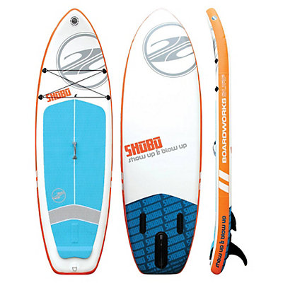 Boardworks Surf SHUBU 9ft 6in Inflatable Stand Up Paddleboard, White-Orange, viewer