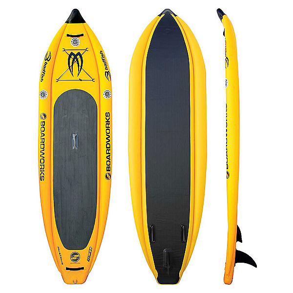 Boardworks Surf MCIT 9' Inflatable Stand Up Paddleboard, Kodak Yellow, 600