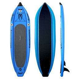 Boardworks Surf MCIT 10'6 Inflatable Stand Up Paddleboard, Sky Blue, 256