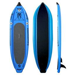 Boardworks Surf MCIT 10'6 Inflatable Stand Up Paddleboard, Sky Blue, 256