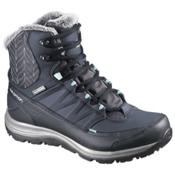 Salomon Kaina Mid CS WP 2 Womens Boots, Deep Blue-Slate Blue-Bubble Bl, medium