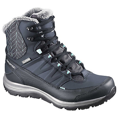 Salomon Kaina Mid CS WP 2 Womens Boots, Deep Blue-Slate Blue-Bubble Bl, viewer
