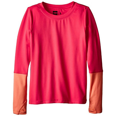 686 Serenity 1st Layer Girls Long Underwear Top, Fuschia, viewer