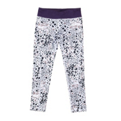 686 Serenity 1st Layer Girls Long Underwear Bottom, Grey Animal-Violet, medium
